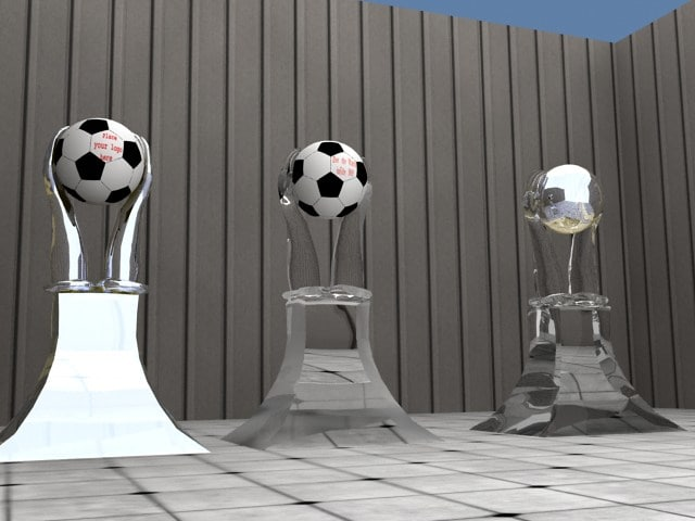 3d football showpiece trophy
