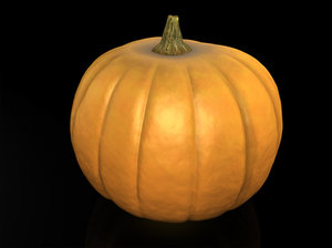 3ds max pumpkin vegetable