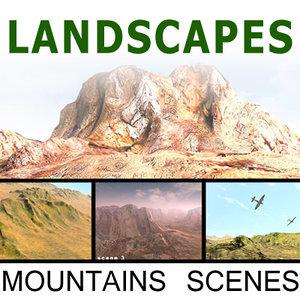 landscapes terrain desert 3d model