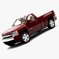 2008 chevrolet silverado regular 3d max