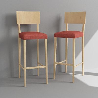 3d max bar chair