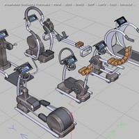 cardio gym equipment move! 3d model