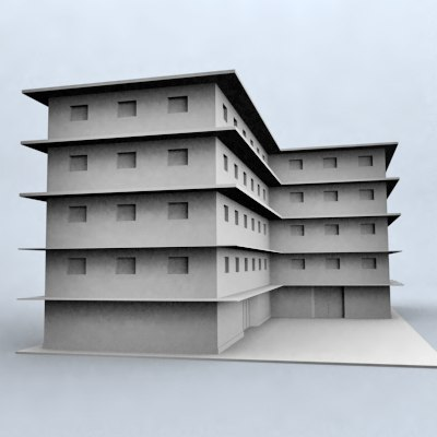 office building 3d 3ds