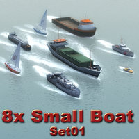 3ds max boats speedboat supply vessel