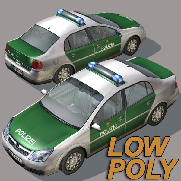 police car02 car german 3ds