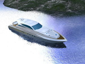 boat yacht 3d c4d