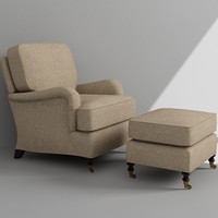 3ds max armchair ottoman
