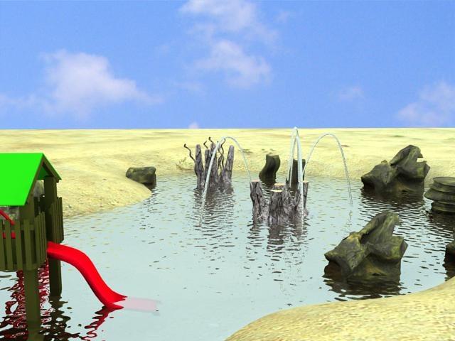 3d small lake