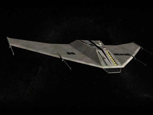 free space fighter 3d model