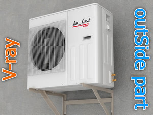 air conditioner 2 3d model