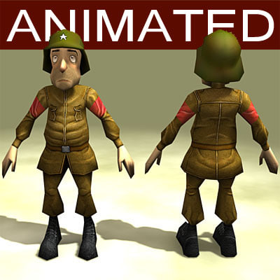 max cartoon soldier animations