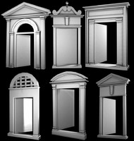 3d windows arches doorways