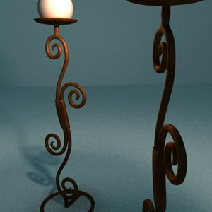 3ds max candleholder candle holder