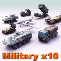 Army Vehicle x10 Set02