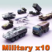 Army Vehicle x10 Set02