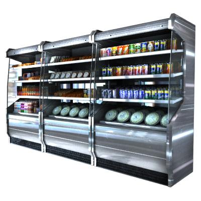 refrigerated airscreen 3d max