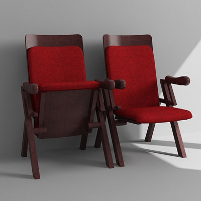 theater chair 3d max