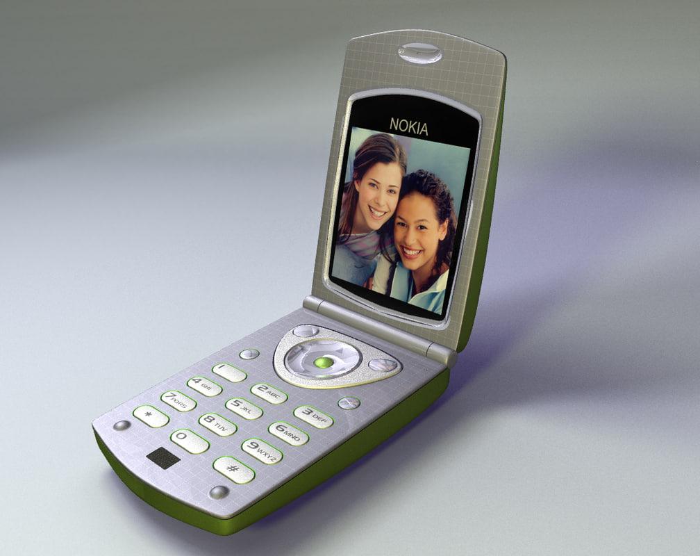 camera cell phone flip 3d model