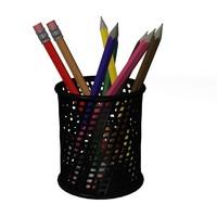 pencil box 3d model