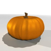 pumpkin vegetable 3d ma