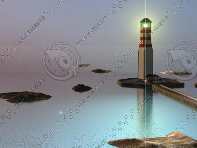 lighthouse light 3d c4d