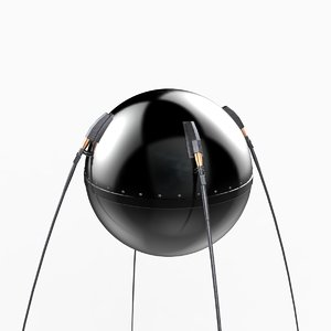 3d sputnik 1 satellite model