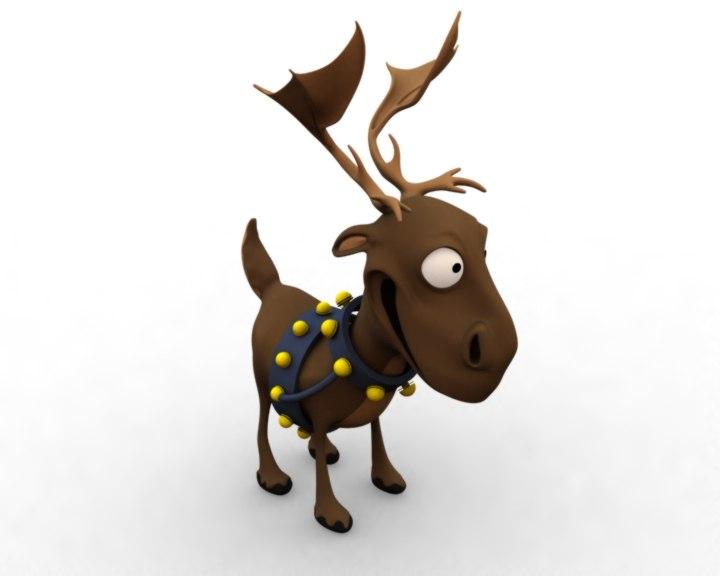 3dsmax reindeer