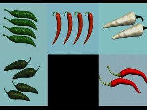 3d model pepper