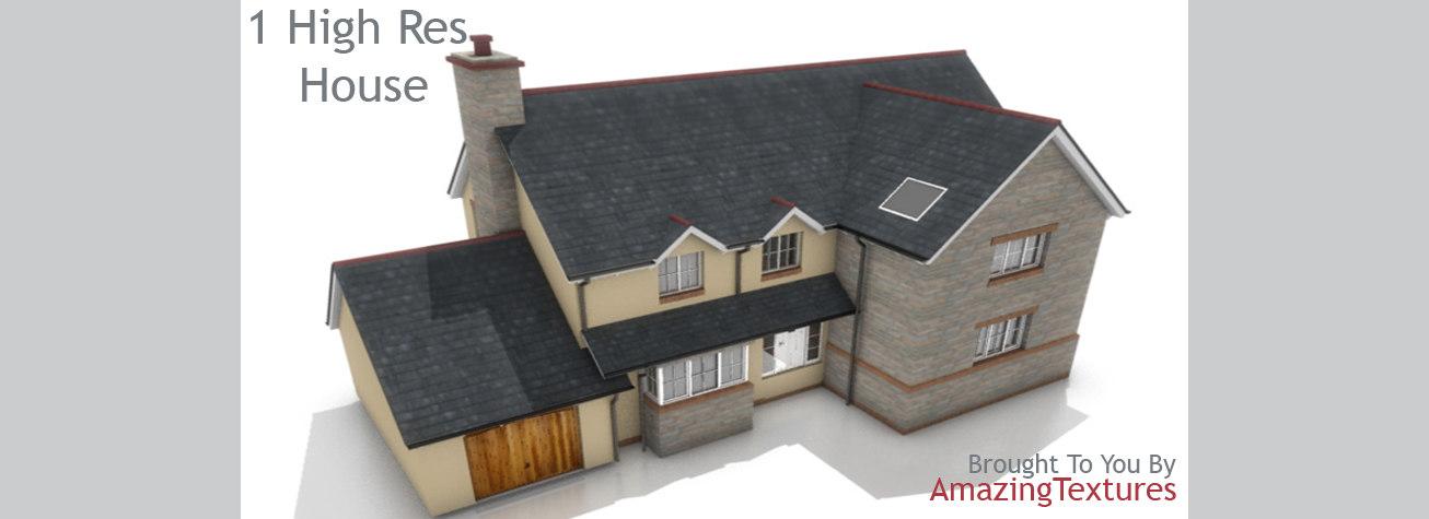 3d stock houses architecture buildings model