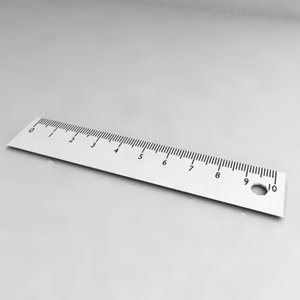 3d ruler model