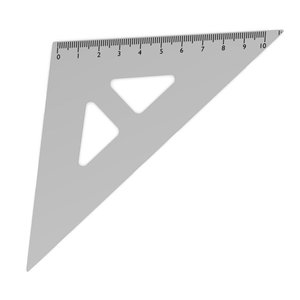 ruler triangle 3d dxf