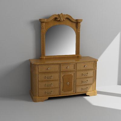 Dresser Cabinet Mirror Max