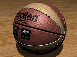 basket ball basketball 3d model