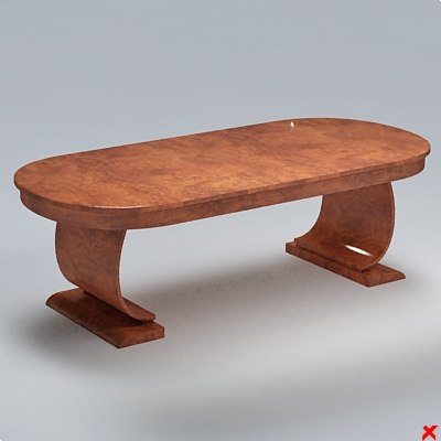 table dining 3d dxf