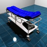 hospital gurney 3d model