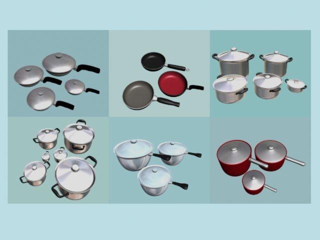 sets pans 3d max