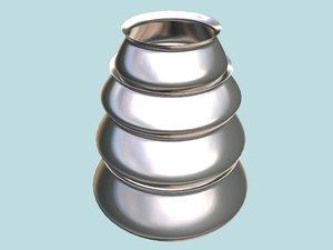 pot cook aluminium 3d model