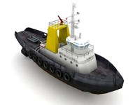 3d model port tug ship