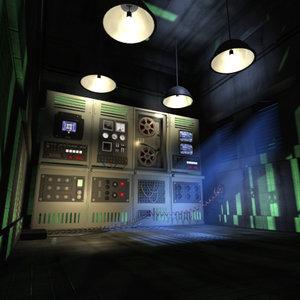 gloomy control room 3d model