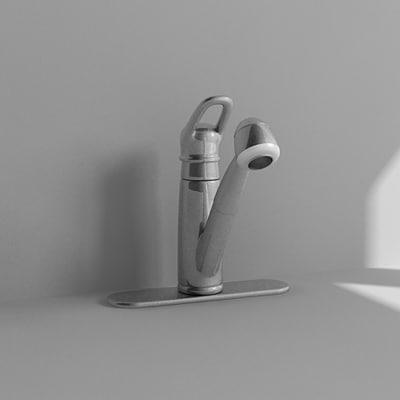 3d faucet model