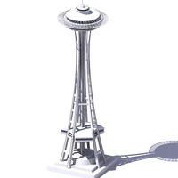 3D Space needle.zip