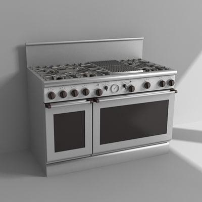 3d kitchen range model