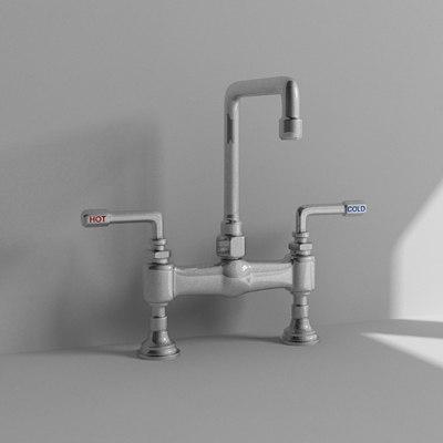 3d kitchen faucet