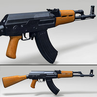 3d model ak-47 assault rifle