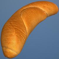 3d model crescent roll