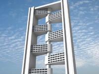 3d futuristic building 9 model