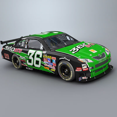 3d model camry car nascar cot