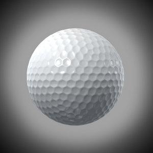 golf ball 3d lwo