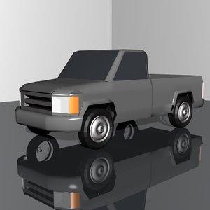 3d pickup truck