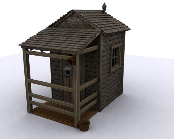 shack cabin 3d model